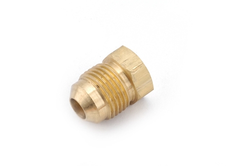 Anderson Metals 704039-04 Brass Male Flared Sealing Plug - 1/4""