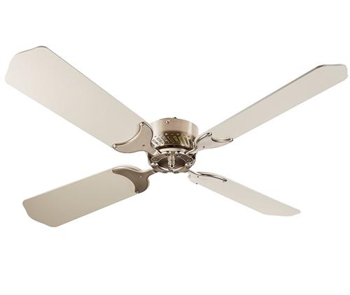LaSalle Bristol 410TSDC42BNWH RV Ceiling Fan Nickel With White Blades