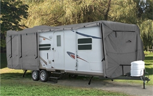 Camco 45841 24' UltraGuard Class C / Travel Trailer RV Cover Questions & Answers