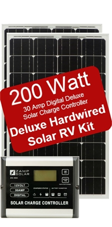 Zamp Solar Battery Charger Deluxe RV Kit # ZS-200-30A-DX 200W Panal