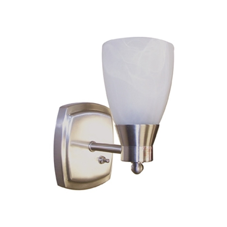 ITC 3400C-S834211-D Mirage Marquis Series Small Pin-Up RV Light - Brushed Nickel