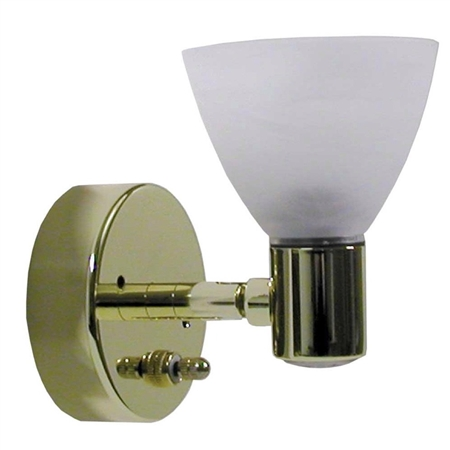 ITC 69704-BR/98-D Directional Glass Shaded Brass RV Reading Light Questions & Answers