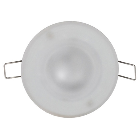How do you replace the bulb in ITC 4.5″ Radiance Halogen RV Overhead Light?