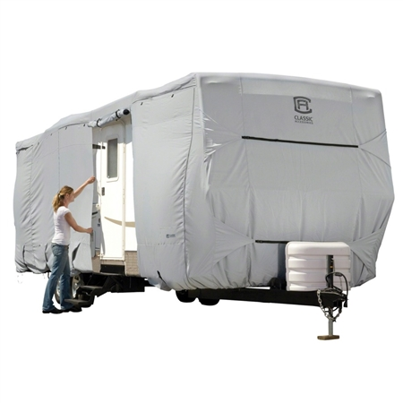 Classic Accessories 80-136-161001-00 PermaPRO Travel Trailer Cover - Model 3 - 22'-24' Questions & Answers