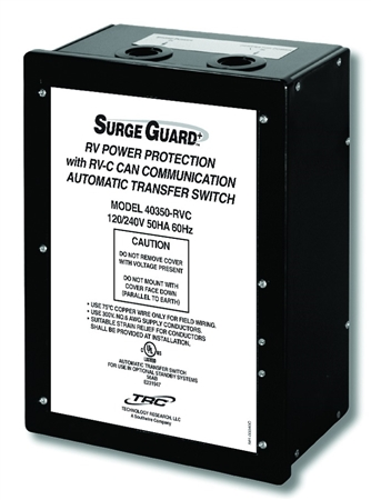 Surge Guard 40350RVC1 50 Amp Hardwire Automatic Transfer Switch