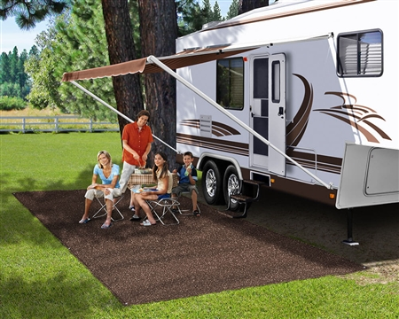 Prest-o-Fit 2-1170 RV Patio Rug - Espresso - 8' x 20'