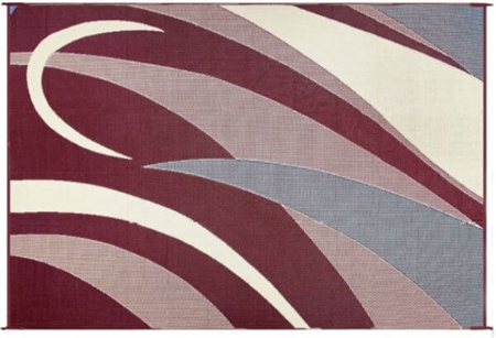 Ming's Mark GC5 Reversible RV Patio Mat - Burgundy & Black Graphic - 8' x 20' Questions & Answers