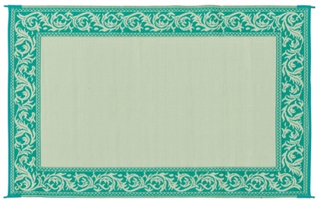 Ming's Mark RD4 Reversible RV Patio Mat - Green & Beige Classical Design - 6' x 9' Questions & Answers