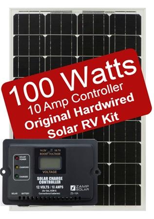 Zamp Solar ZS-100-10A 100 Watt 10 Amp Original Hardwired Solar RV Kit
