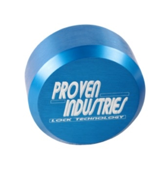 Proven Industries 400A XL Blue Puck Lock, Keyed A Like For Trailer Doors