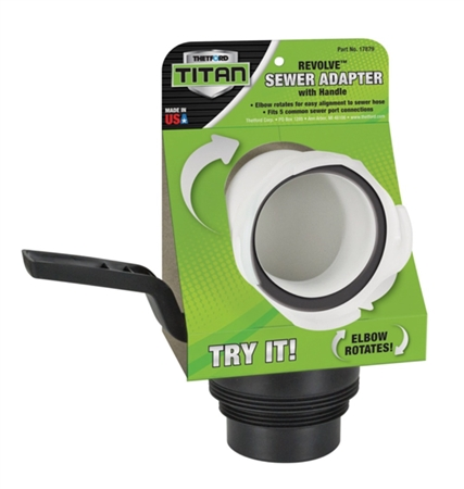 Thetford 17879 Titan Revolve RV Sewer Adapter With Handle Questions & Answers