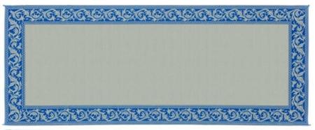 Ming's Mark RC3 Reversible RV Patio Mat - Blue & Beige Classical - 8' x 20'