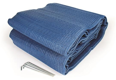 Camco 42821 Reversible Awning Leisure Mat - Blue - 12' x 9' Questions & Answers