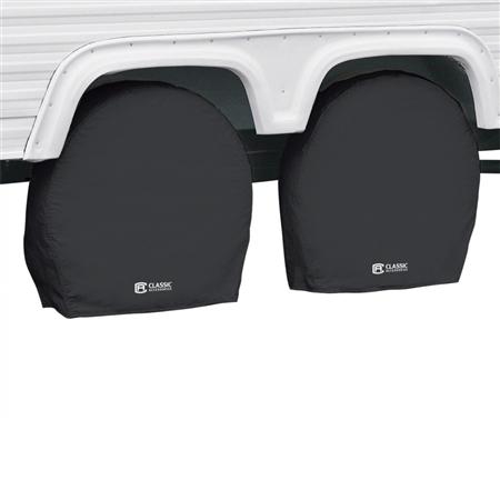 "Classic Accessories 80-240-180402-00 RV Wheel Covers - Black - 33"" - 36"""