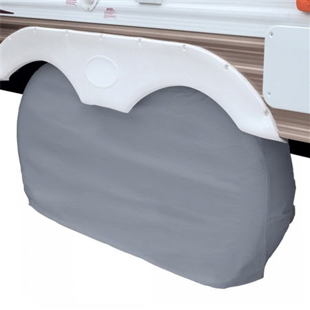 """Classic Accessories 80-108-041001-00 Dual Axle Wheel Cover - Grey - 27"""" To 30"""""""