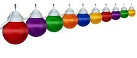 Polymer Products 16-61-00515 Globe String Lights-Multi-Color, Set Of 10