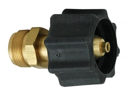 Does the black end of the ME474 adapter connector fit a 20 lb cylinder?