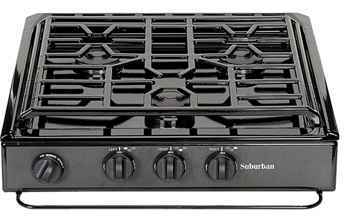 Suburban 3231A 3 Burner Slide-In RV Cooktop Stove With Sealed Burners