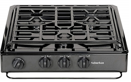 Suburban 3600A 3 Burner Slide-In RV Cooktop Stove
