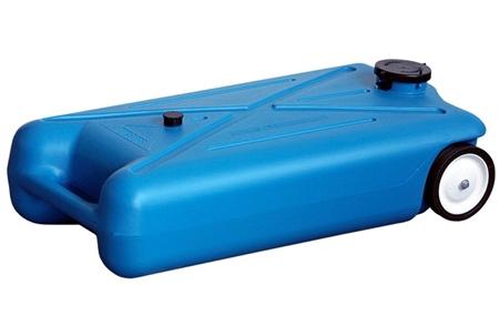 Barker 10893 10 Gallon Tote Along Portable Waste Tank - 2 Wheels