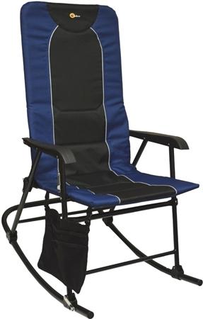 Faulkner 49598 Dakota Folding Rocking Chair - Blue/Black