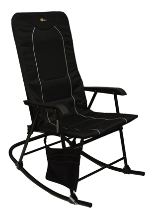 Faulkner 49597 Dakota Folding Rocking Chair - Black