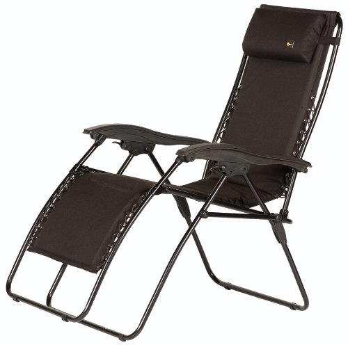 Faulkner 48973 Malibu Style Black Outdoor Recliner - XL