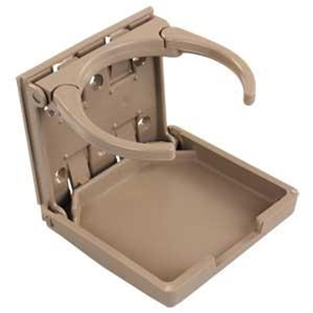 JR Products 45623 RV Adjustable Plastic Cup Holder - Tan