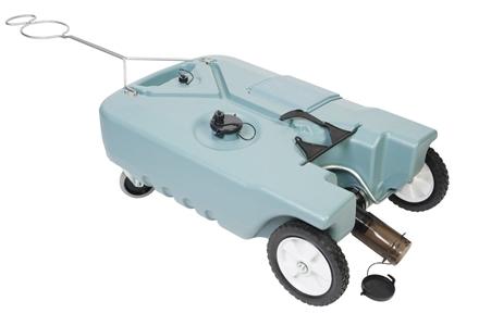 Tote-N-Stor 20123 Portable 4 Wheel RV Waste Tank - 25 Gallon