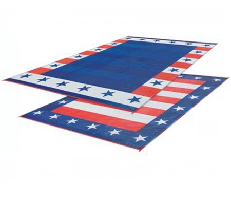 Faulkner 46503 Reversible RV Outdoor Patio Mat - Independence Day Design - 9' x 12' Questions & Answers