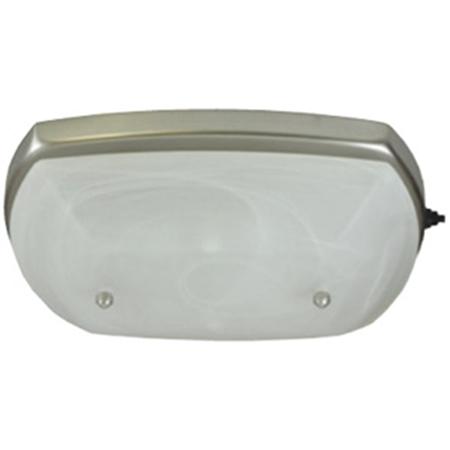 ITC 34400-SC3840R-D Single Glass Ranch Dinette Light - Nickel