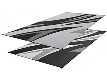 Faulkner 46341 Reversible RV Outdoor Patio Mat - Black Summer Waves Design - 8' x 20' Questions & Answers