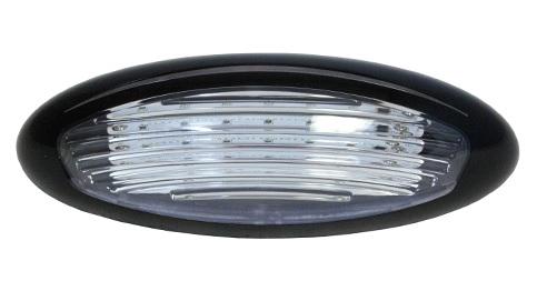 ITC 69768-BK-D Amber/White LED Exterior RV Porch Light - Black