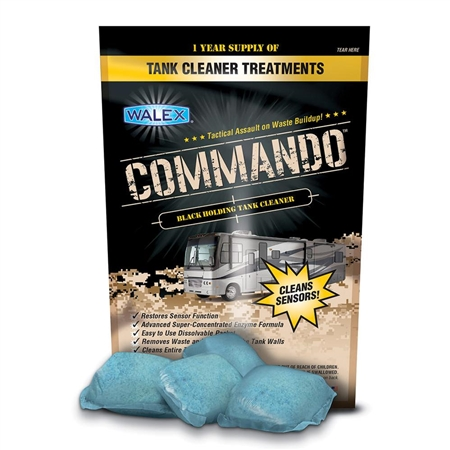 Will Walex CMDOBG  Commando Black Holding Tank Treatment help clean the back flush as well?