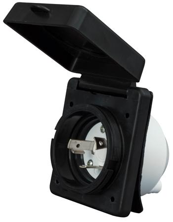 Valterra A10-30INBKVP Mighty Cord 30 Amp Power Inlet - Black