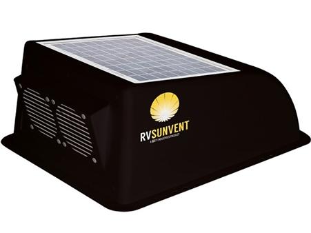 Stoett STO-RVB100BK RV Sunvent Solar Powered RV Vent Cover - Black