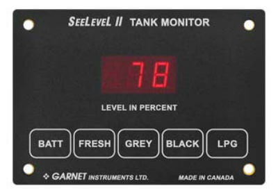 Garnet 709-RVC SeeLevel II 3 Tank Monitor - Monitor Only