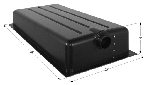 Icon 12369 25-Gallon RV Holding Tank With Center End Drain HT198ED