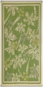 Faulkner 48935 Reversible RV Outdoor Patio Mat - Green & Yellow Tropical Island Design - 9' x 12' Questions & Answers