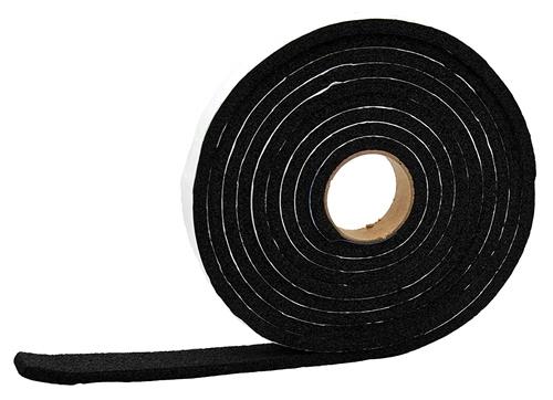 "AP Products 018-5321250 Multi-Purpose Vinyl Foam Tape - 5/32"" x 1/2"" x 50 Ft - Black"