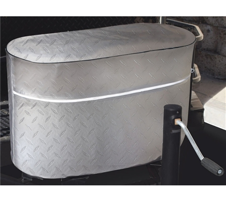 ADCO 2712 Diamond Plated Propane Tank Cover - Silver - Double 20 Lb Questions & Answers
