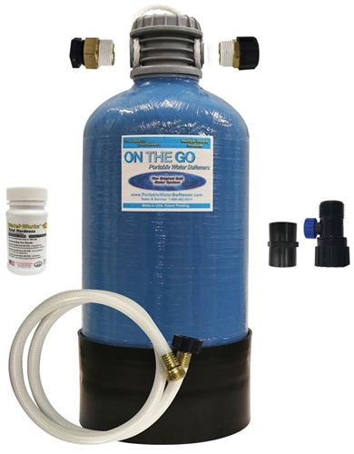On The Go OTG4-DBLSOFT-BF Double Standard Portable Water Softener with Brass Fittings Questions & Answers