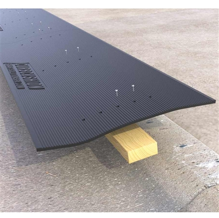 Do the ramp mats work on a rolled curb without the wood?