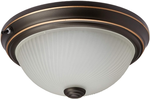 What is the lumen rating on the 10 inch laselle 3 bulb led light fixture? Is it warm white or bright white?