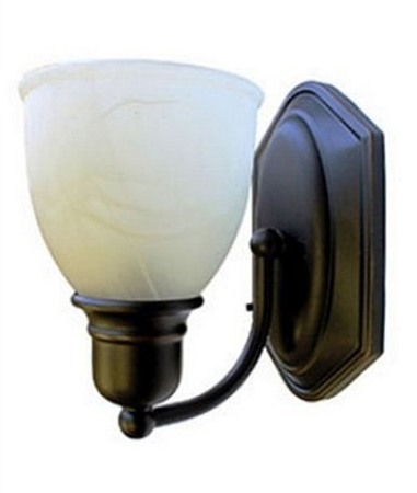 How does this sconce light mount to the wall ?