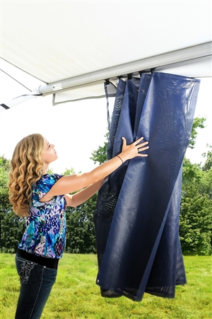 Camco 51456 RV Awning Shade Kit - 54'' x 180'' - Blue Questions & Answers
