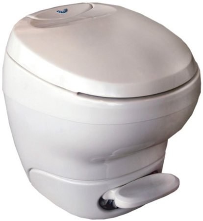 Thetford 31100 Bravura High Profile RV Toilet With Water Saver Sprayer - White Questions & Answers