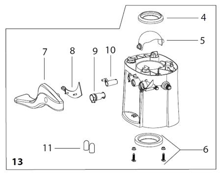 Thetford 42138 Aqua Magic II Replacement Base - Bone