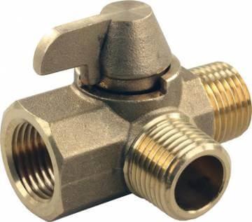 JR Products 62245 3-Way Brass RV Diverter Valve