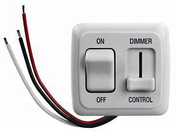 JR Products 15205 RV Dimmer On/Off LED Light Switch